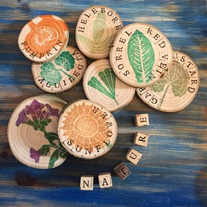 Stamped plant labels