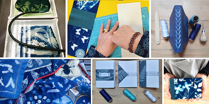 cyanotype and bookbinding