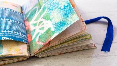 junk journal open